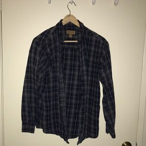 Vintage Surf Blue Plaid Shirt (M 38-40)